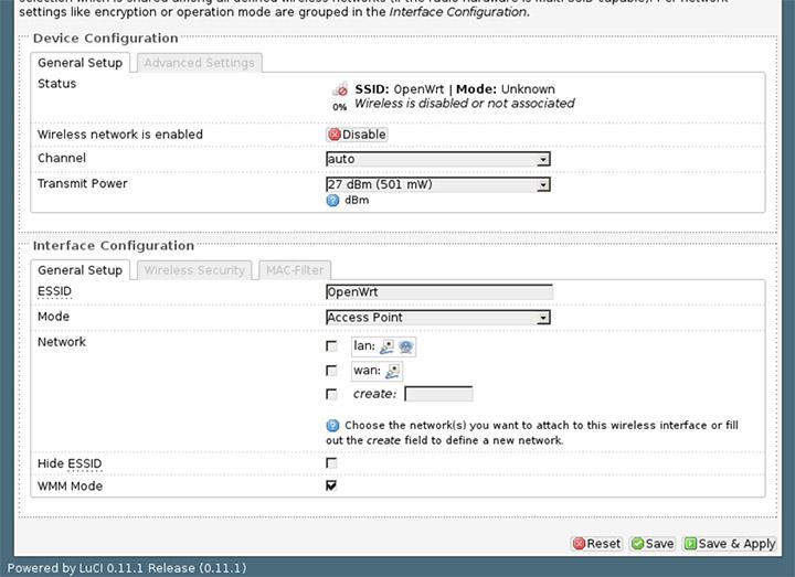 OpenWRT  Настройка сети